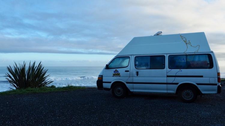 Budget campervan travel in New Zealand